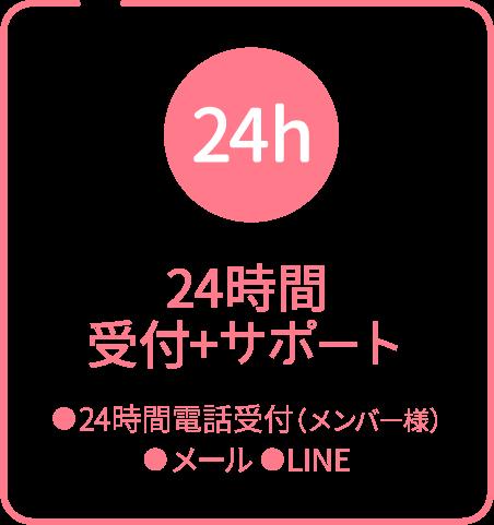 24時間受付+サポート